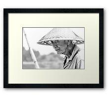 The Fisherman BW Framed Print