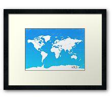 Worl map travel E Ocean park Framed Print