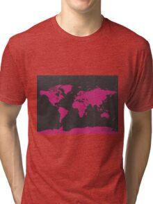 World map B PINK Tri-blend T-Shirt