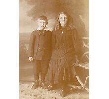 JWFrench Collection Vintage Range Siblings Photographic Print
