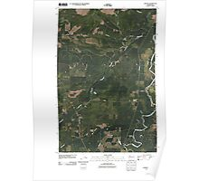 USGS Topo Map Washington State WA Carlisle 20110418 TM Poster