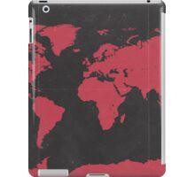 World map travel RED iPad Case/Skin