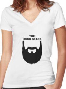 The Hobo Beard Women's Fitted V-Neck T-Shirt