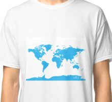 World map W blue Classic T-Shirt