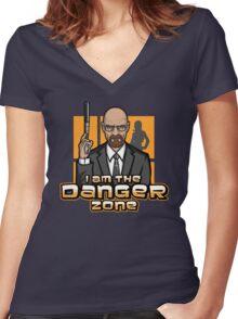 I am The Danger Zone Women's Fitted V-Neck T-Shirt