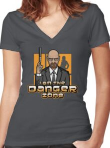 I am The Danger Zone Women's Fitted V-Neck T-Shirt