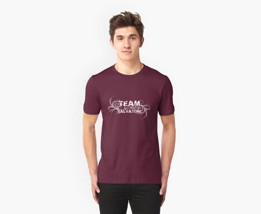 Team Damon Salvatore - White logo by missemilyellen