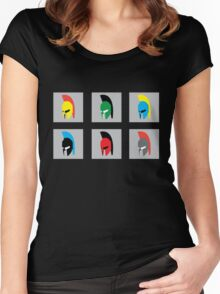 Colourful Spartans Women's Fitted Scoop T-Shirt