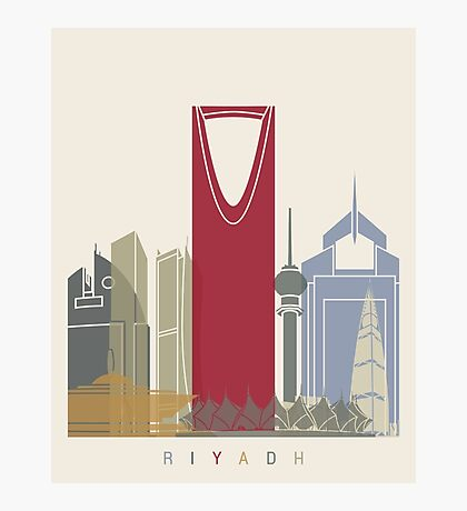 Riyadh skyline poster Photographic Print