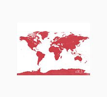 World map W REd Classic T-Shirt