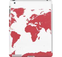 World map W REd iPad Case/Skin