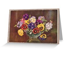 JWFrench Collection Vintage Range Vintage Flowers Greeting Card