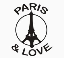 Paris & Love (design made in january 2013 !) Kids Tee