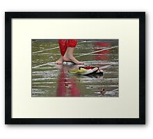 Too hot for shoes Framed Print