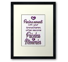 Precious moments with your grandchildren often become priceless memories Framed Print