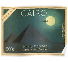 Cairo Safety Matches  Poster