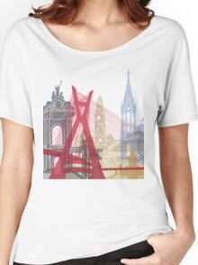 Sao Paulo skyline poster Women's Relaxed Fit T-Shirt