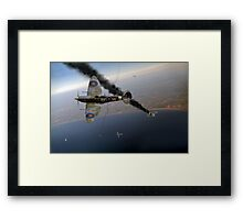 303 Squadron Spitfires in Channel dogfight Framed Print