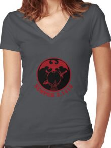 Semper 3.1415© with Emblem Women's Fitted V-Neck T-Shirt
