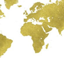 World map GOLD Sticker