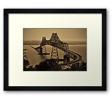 Steel Crest Framed Print