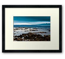 blu summer Framed Print