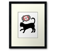 Cats have dark thoughts Framed Print