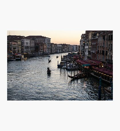 Venice, Italy - a Classic View of the Grand Canal Photographic Print