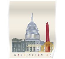 Washington DC skyline poster Poster