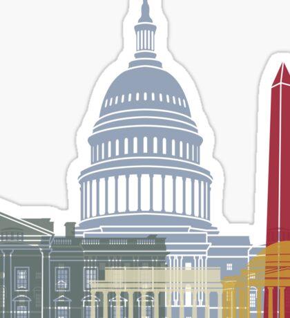 Washington DC skyline poster Sticker