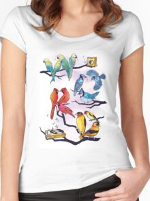 The Bird is the Word Women's Fitted Scoop T-Shirt