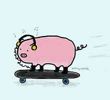 Skate Pigg by Patsy Castle