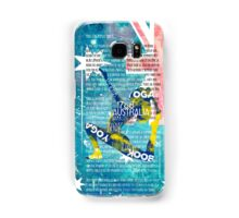 Australia yoga book Samsung Galaxy Case/Skin