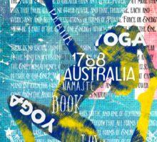 Australia yoga book Sticker