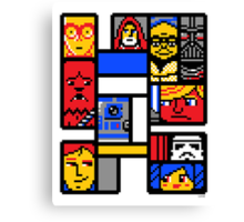 8-BIT WARS Canvas Print