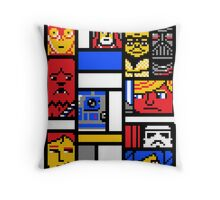 8-BIT WARS Throw Pillow