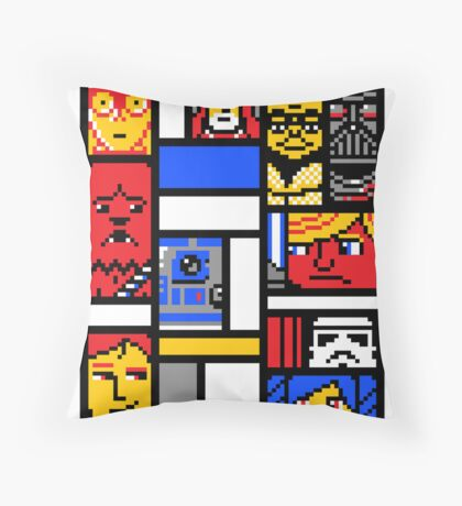 8-BIT WARS Throw Pillow