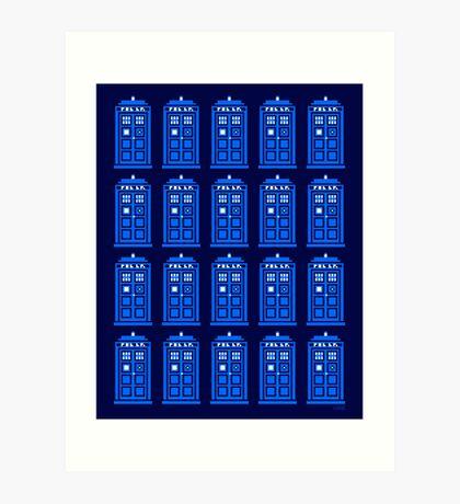 TARDIS PATTERN Art Print