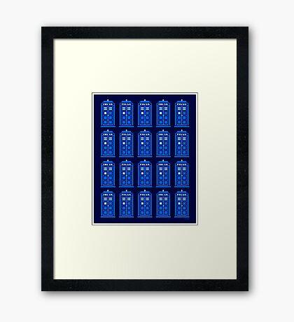 TARDIS PATTERN Framed Print