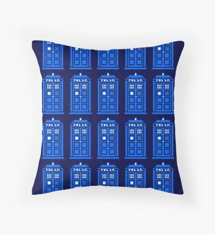 TARDIS PATTERN Throw Pillow