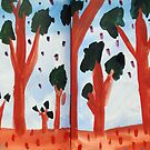 Orange Treed Forest by John Douglas