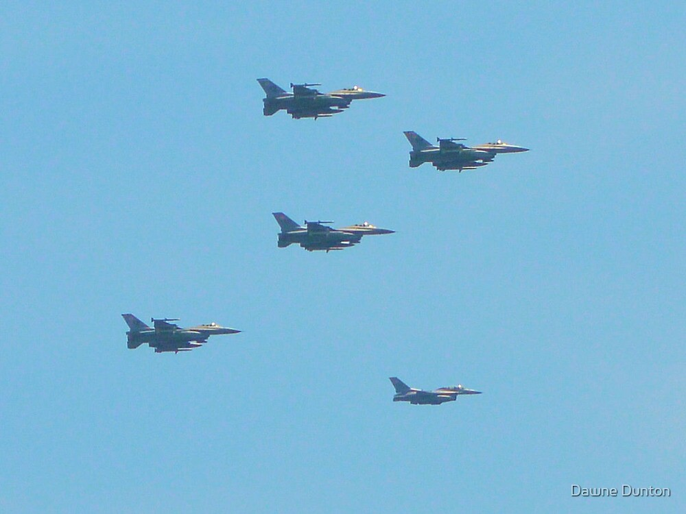 F-16 Fighting Falcons July 4th Flyover by ©Dawne M. Dunton