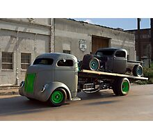 1940 Ford COE Roll Back Truck Photographic Print