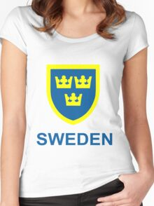 Country - Swedish Three Crowns Women's Fitted Scoop T-Shirt