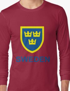 Country - Swedish Three Crowns Long Sleeve T-Shirt