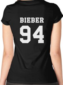 BIEBER 94 white Women's Fitted Scoop T-Shirt