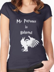 My Patronus is Bahamut Women's Fitted Scoop T-Shirt