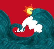 Shark Surfing by pondripple