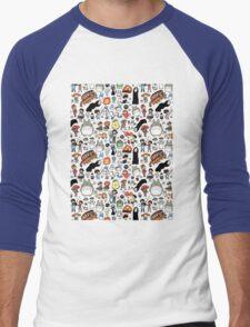 Background Totoro Men's Baseball ¾ T-Shirt