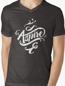 Aspire to greatness - calligraphic motivational design Mens V-Neck T-Shirt